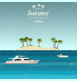 island with boats in the sea vector image