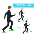 business man running to the top vector image