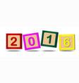 2016 number blocks vector image vector image