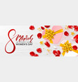 8 march happy women s day banner beautiful vector image vector image