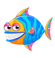 A colorful piranha vector image vector image