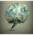 Abstract geometric bubble vector image vector image