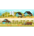 Agricultural Horizontal Banners vector image vector image