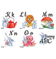 alphabet letters for kids with pictures vector image
