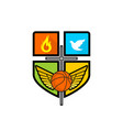 athletic christian logo vector image vector image