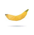 Banana abstract isolated on a white backgrounds vector image vector image