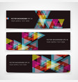 Banner abstract color background vector image vector image