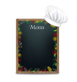 Black Board With Vegetables Border vector image