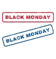 Black Monday Rubber Stamps vector image vector image