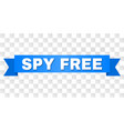blue ribbon with spy free title vector image vector image