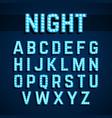 broadway lights style light bulb alphabet vector image