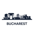 Bucharest City Skyline vector image