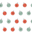 Christmas balls seamless background vector image vector image