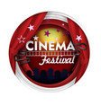 cinema festival paper cut poster banner vector image vector image