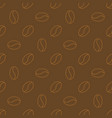 coffee beans brown concept seamless pattern vector image
