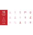 cone icons vector image vector image
