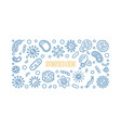 covid19-19 or coronavirus in sweden outline vector image vector image
