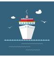 Cruise Ship at Sea vector image vector image