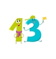 Cute and funny colorful 13 number characters vector image vector image