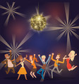 discoball in bar banner poster vector image vector image