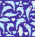 dolphins pattern vector image