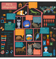 Domestic pets infographic elements helthcare vet vector image vector image