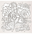 Doodles abstract decorative summer sketch vector image