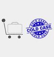 dot baggage cart icon and distress cold vector image vector image