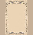 empty template vintage poster design element vector image