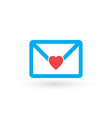 envelope with heart be my valentine love letter vector image