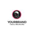 fashion style woman face logo design concept vector image
