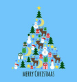 Fir Tree from Christmas Stuff Greeting Card vector image vector image