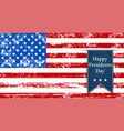 flag america to the presidents day leyba vector image vector image