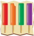 Flavored Popsicles vector image vector image