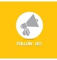 Follow us banner Follow us concept vector image