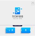food technology modern simple flat logo template vector image