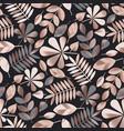 geometric elegant autumn leaves seamless pattern vector image vector image