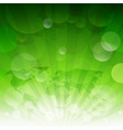 green sunburst eco background with gradient mesh vector image vector image