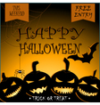 Halloween Party Design with pumpkins and place vector image vector image