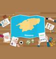 havana cuba capital city region economy growth vector image