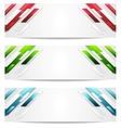 Hi-tech geometric abstract banners vector image vector image