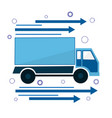 icon the truck is going sign of delivery and vector image vector image