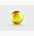 liquid oil gold gel bubble isolated on vector image