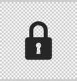 lock icon isolated on transparent background vector image vector image