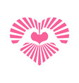 love heart shinning stripe hand gesture graphic vector image vector image