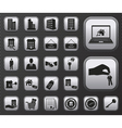 Metallic houses and real estate web icons set vector image vector image