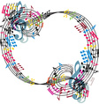 Music notes composition stylish musical theme vector image vector image