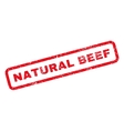 Natural Beef Rubber Stamp vector image