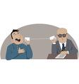 Phone job interview vector image vector image