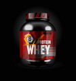 protein whey vector image vector image